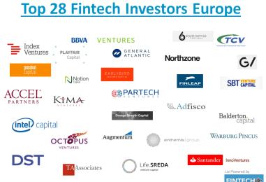Top 28 Fintech Investors In Europe
