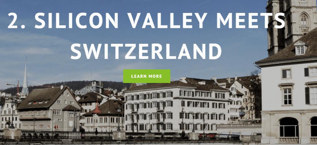 Sillicon Valley Meets Switzerland Fintech