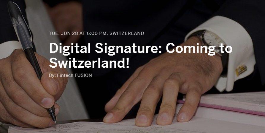 Digital Signature Coming to Switzerland