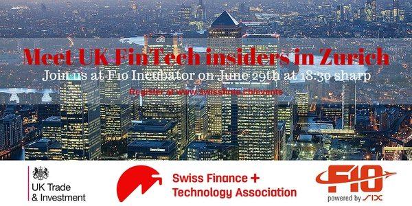 Meet UK FinTech insiders in Zurich