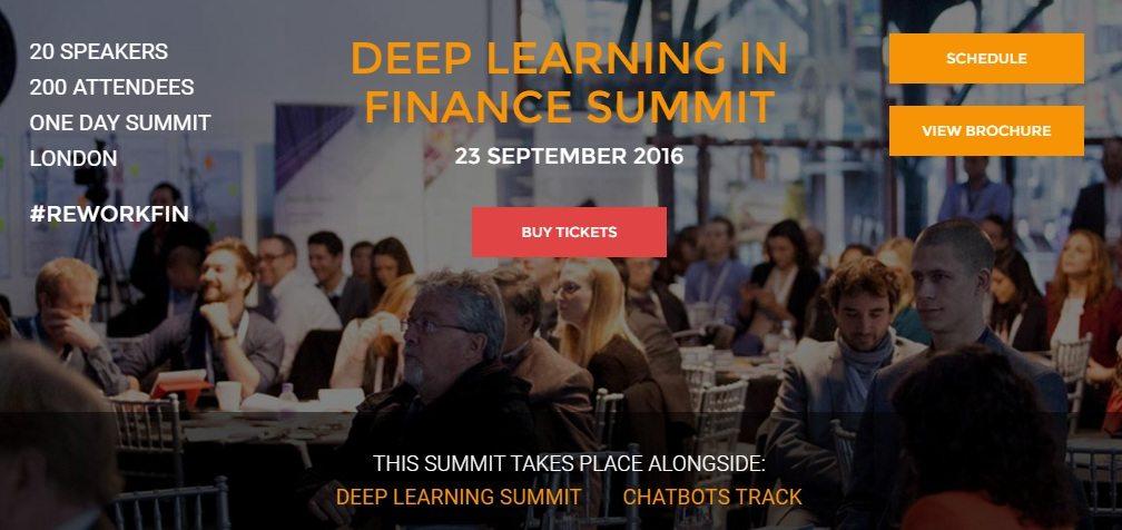 Deep Learning in Finance Summit