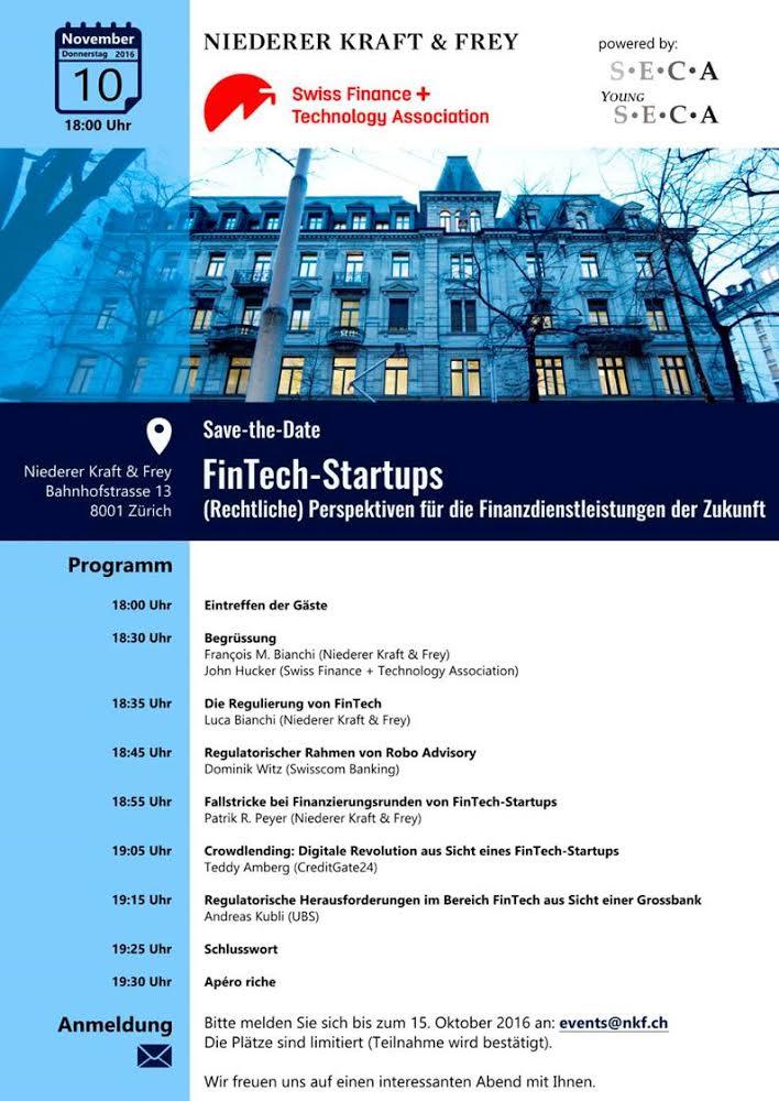 Save-the-Date FinTech-Startups