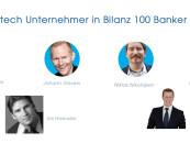 6 Fintech Unternehmer in Bilanz Top 100 Banker Liste