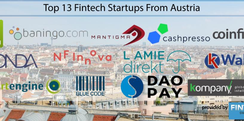 Top 13 Fintech Startups From Austria