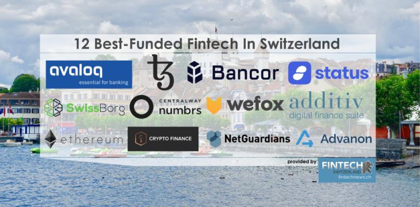 12 Best-Funded Fintechs In Switzerland