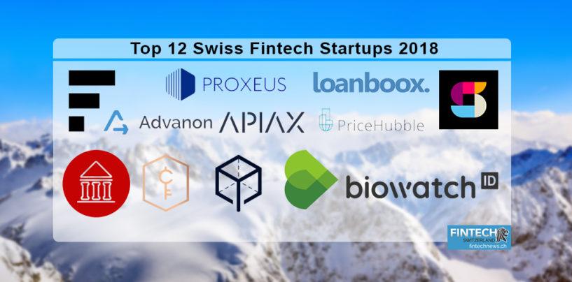 The Top 12 Classed Swiss Fintech Startups 2018