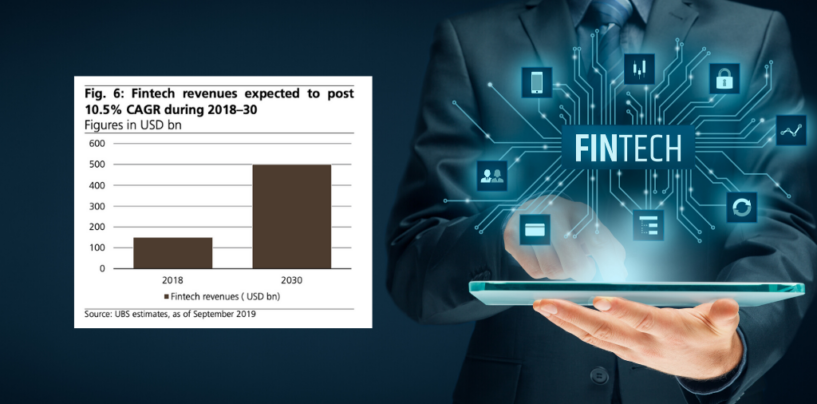 Fintech Revenues to Reach US$500B by 2030: UBS Research