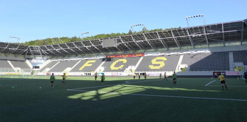 Insurtech Firma sponsored Fussball Stadium in Schaffhausen