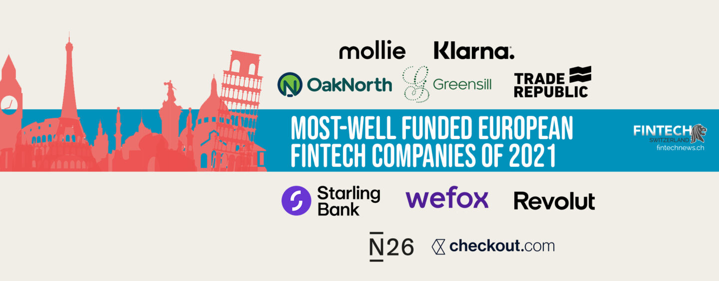 The 10 Most-Well Funded European Fintech Companies of 2021